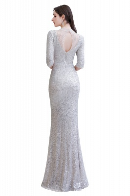 Long glitter prom dresses | Evening dresses with sleeves_13