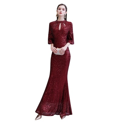 Red evening dresses | Long prom dresses with glitter_13