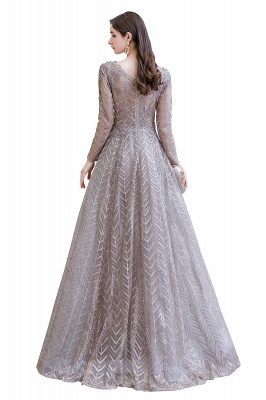 Luxury evening dresses long glitter | Prom dresses with sleeves_15