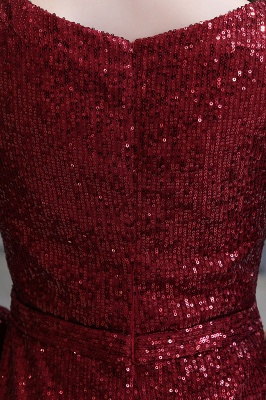 Evening dress red | Long glitter prom dresses with sleeves_16