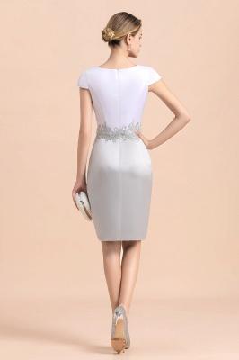 2 Teilige Brautmutterkleider Kurz | Silber Brautmutterkleid Mit Jacket_10