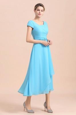 Günstige Brautmutterkleider Kurz Blau   Chiffon Kleider Günstig_9