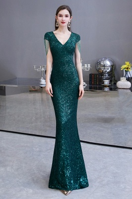 Elegant prom dresses long glitter | Evening dresses green_2