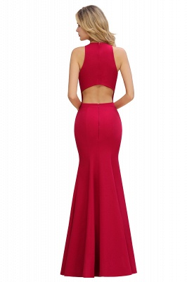 Simple evening wear | Evening dress long red_10