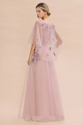 Evening dress long pink | Prom dresses with sleeves_11