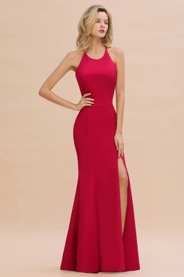 Simple evening wear | Evening dress long red_2