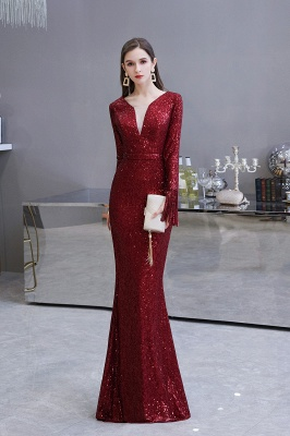 Evening dress red | Long glitter prom dresses with sleeves_3