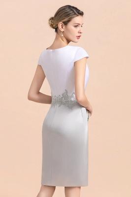2 Teilige Brautmutterkleider Kurz | Silber Brautmutterkleid Mit Jacket_12