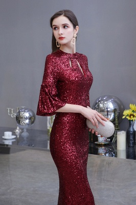 Red evening dresses | Long prom dresses with glitter_3