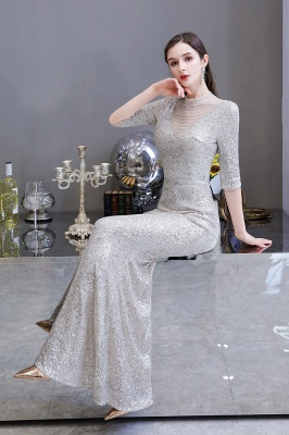 Long glitter prom dresses | Evening dresses with sleeves_16
