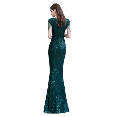 Elegant prom dresses long glitter | Evening dresses green_11