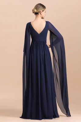 Elegante Brautmutterkleider Dunkel Blau | Hochzeitspartykleider Brautmutter_3