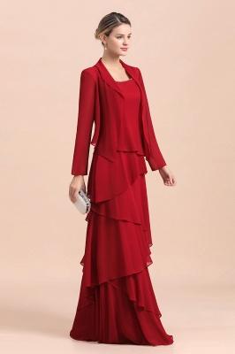 Rote Brautmutterkleider Lang Günstig | Brautmutterkleid mit Bolero_6