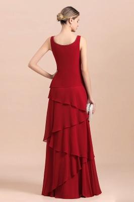 Rote Brautmutterkleider Lang Günstig | Brautmutterkleid mit Bolero_7