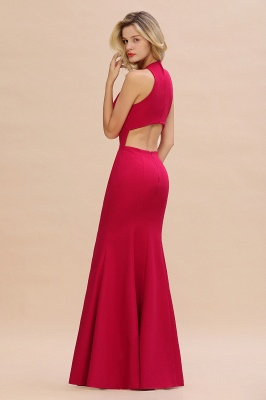 Simple evening wear | Evening dress long red_6