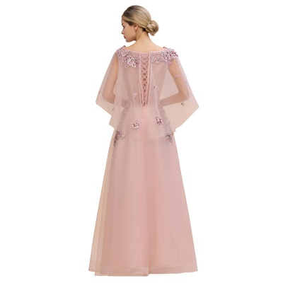 Evening dress long pink | Prom dresses with sleeves_6