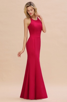 Simple evening wear | Evening dress long red_7