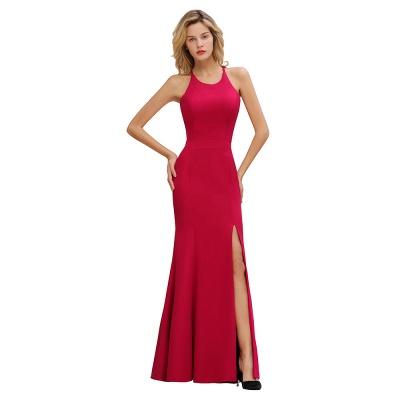 Simple evening wear | Evening dress long red_9