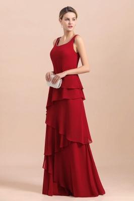 Rote Brautmutterkleider Lang Günstig | Brautmutterkleid mit Bolero_9