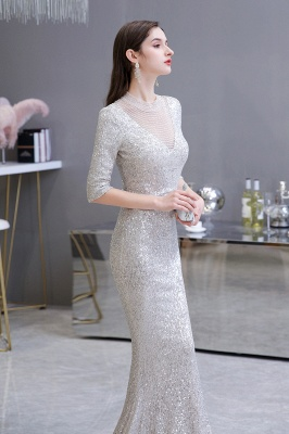 Long glitter prom dresses | Evening dresses with sleeves_6