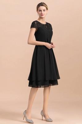 Schwarze Brautmutterkleider Kurz | Chiffon Kleider Für Brautmutter_5
