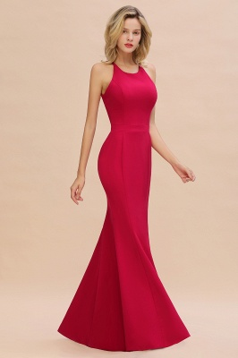 Simple evening wear | Evening dress long red_8