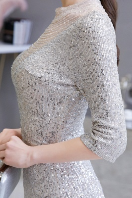 Long glitter prom dresses | Evening dresses with sleeves_10