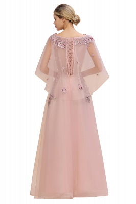 Evening dress long pink | Prom dresses with sleeves_10