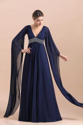 Elegante Brautmutterkleider Dunkel Blau | Hochzeitspartykleider Brautmutter_7