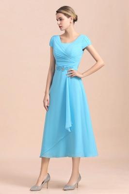 Günstige Brautmutterkleider Kurz Blau   Chiffon Kleider Günstig_6
