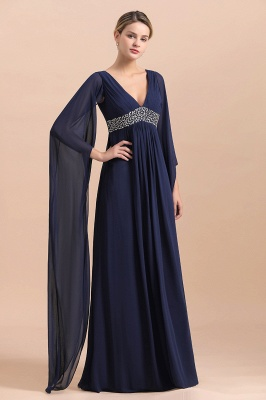 Elegante Brautmutterkleider Dunkel Blau | Hochzeitspartykleider Brautmutter_8
