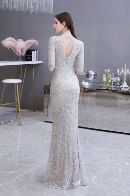 Long glitter prom dresses | Evening dresses with sleeves_9