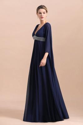 Elegante Brautmutterkleider Dunkel Blau | Hochzeitspartykleider Brautmutter_4