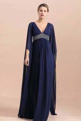 Elegante Brautmutterkleider Dunkel Blau | Hochzeitspartykleider Brautmutter_6