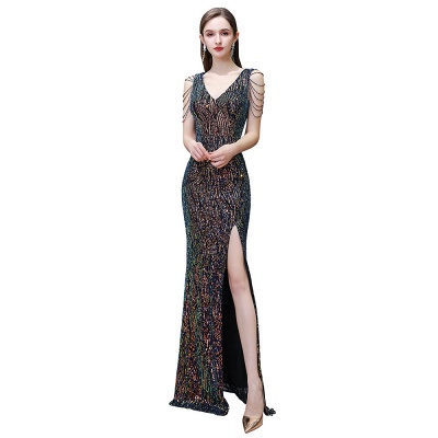 Long glitter prom dresses | Evening dresses black_3