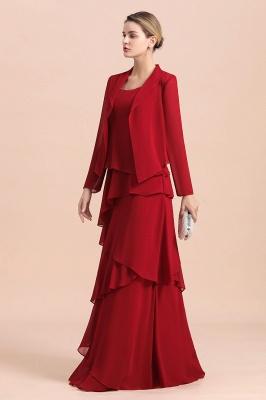 Rote Brautmutterkleider Lang Günstig | Brautmutterkleid mit Bolero_4