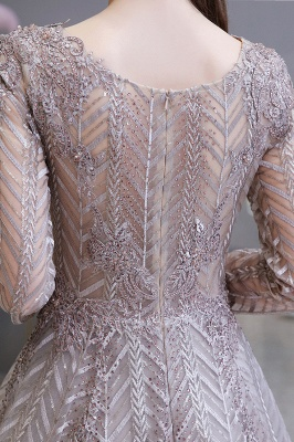 Luxury evening dresses long glitter | Prom dresses with sleeves_12