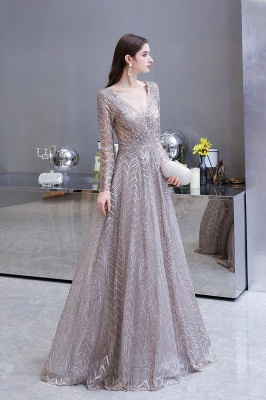 Luxury evening dresses long glitter | Prom dresses with sleeves_10