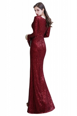 Evening dress red | Long glitter prom dresses with sleeves_33