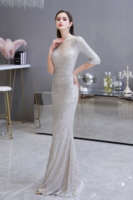 Long glitter prom dresses | Evening dresses with sleeves_3