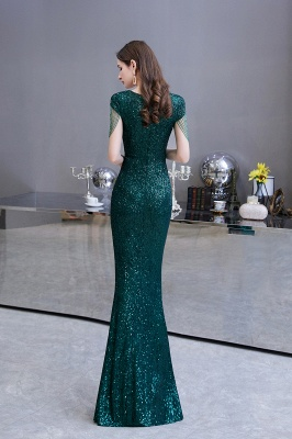 Elegant prom dresses long glitter | Evening dresses green_7