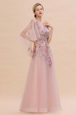 Evening dress long pink | Prom dresses with sleeves_7