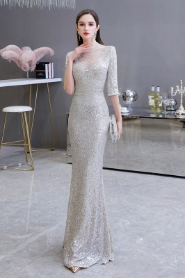 Long glitter prom dresses | Evening dresses with sleeves_2