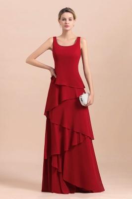 Rote Brautmutterkleider Lang Günstig | Brautmutterkleid mit Bolero_8