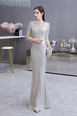 Long glitter prom dresses | Evening dresses with sleeves_14