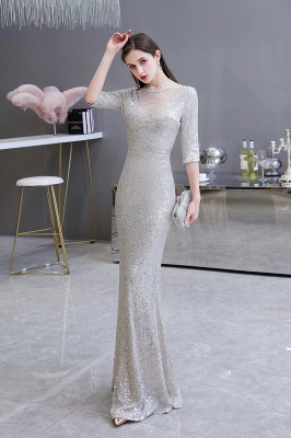 Long glitter prom dresses | Evening dresses with sleeves_4
