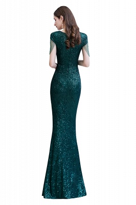 Elegant prom dresses long glitter | Evening dresses green_14
