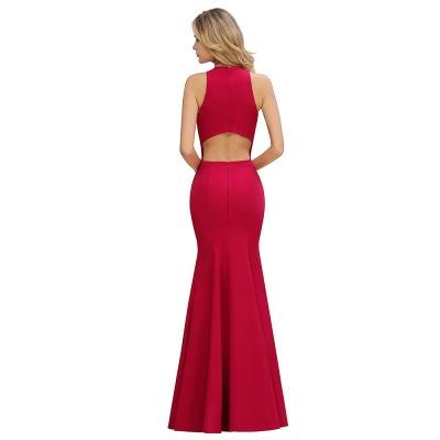 Schlichte Abendmoden | Abendkleid Lang Rot_12