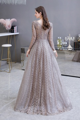 Luxury evening dresses long glitter | Prom dresses with sleeves_7