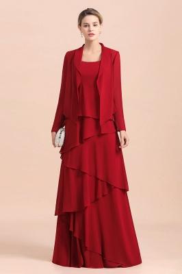 Rote Brautmutterkleider Lang Günstig | Brautmutterkleid mit Bolero